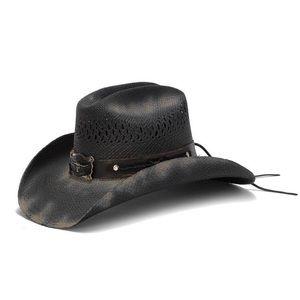 Stampede Hat - The Angus Black Western Straw
